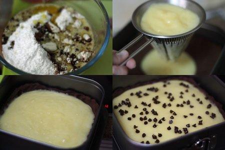 Receta de Tarta de limón y chocolate. Pasos