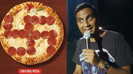 La pizza con forma de esvástica de Pizza Hut, o la lección de Aziz Ansari en Netflix sobre las fake news