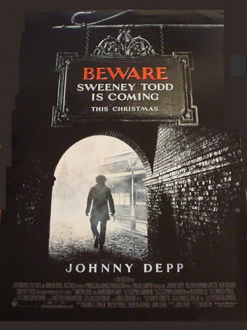 Nuevo póster de 'Sweeney Todd' de Tim Burton
