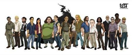 Los personajes de la serie Lost convertidos en dibujos animados por Michael Myers
