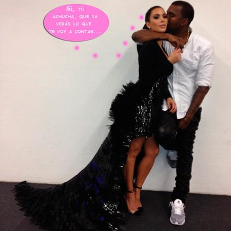 Kim Kardashian, la cigüeña está rondando tu chimenea... ¡Cuidado, Papá Noël!