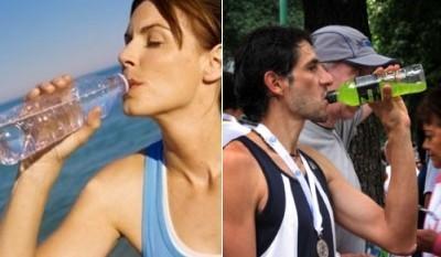 ¿Agua o bebida isotónica?