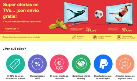 El 11 de eBay para el Mundial 2018 nos trae televisores desde 159 euros