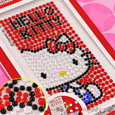 Pegatinas de Hello Kitty con mucho brillo para el móvil