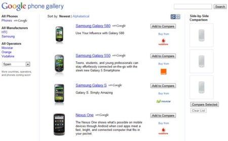 Google Phone Gallery: reunión de todos los teléfonos Android con servicios Google