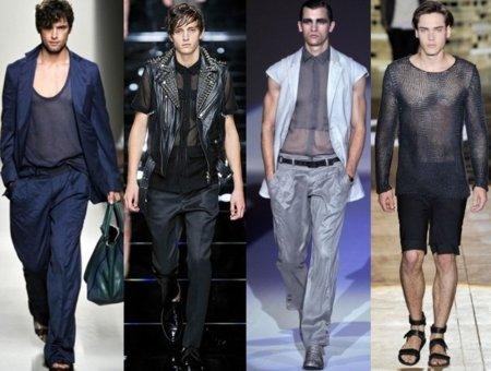Moda para hombres, ¿transparencias sí o no?