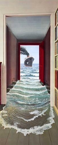 mural papel pintado puerta