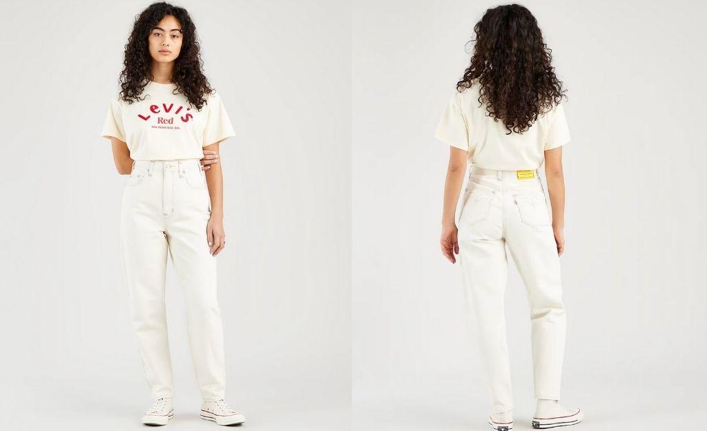 Vaquero mom jean blanco