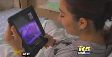 Absurdo: conectar a la madre y a su bebé prematuro a través de un iPad
