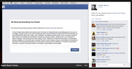 Facebook Comment Screenshot