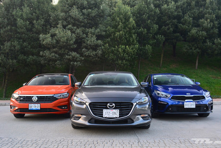 Comparativa: Mazda 3 2018 vs. KIA Forte vs. Volkswagen Jetta