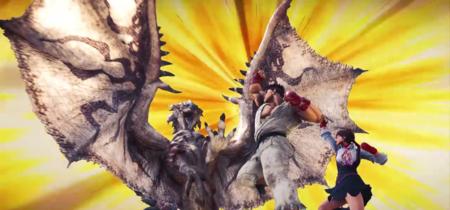 Ryu y Sakura de Street Fighter se apuntan a Monster Hunter World. Así podras hacerte con ellos
