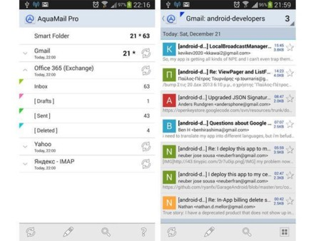 Apps Correo Aquamail
