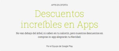 Google Play se pone el gorrito y comienza un período de rebajas navideñas