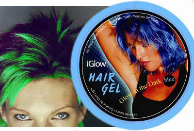 Gel del pelo que se ilumina