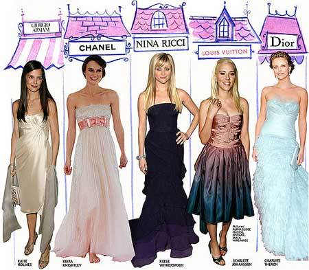 Las celebridades y sus vestidos de gala:¿una relación de negocios?