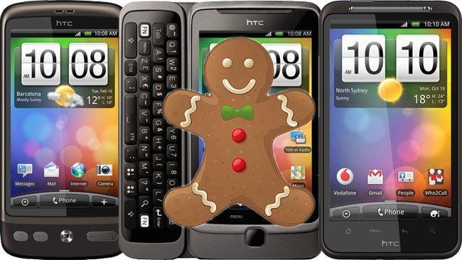 Toda la familia Desire recibirá Android Gingerbread