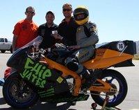 Récord mundial de velocidad para Chip Yates y su moto eléctrica