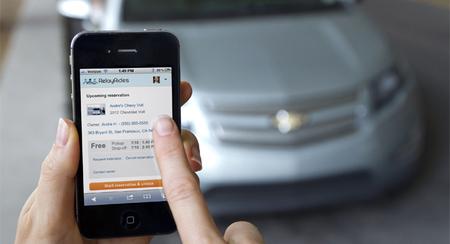 RelayRides, un sistema de coche compartido comandado por una aplicación de móvil