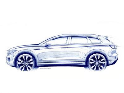 El Volkswagen Touareg 2019 se estrena con un primer boceto