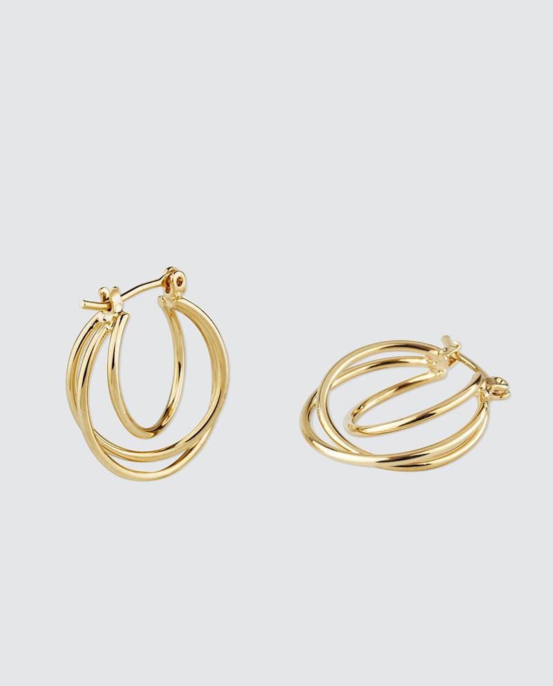 Pendientes de aro Vidal & Vidal con baño de oro