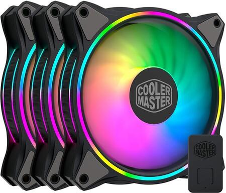 Ventiladores Cooler Masters 120 mm con luces RGB para PC