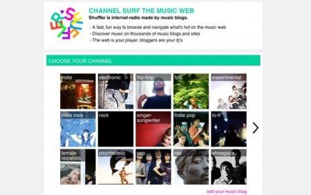 Shuffler.fm: una radio hecha por blogs de música