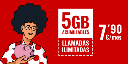 Pepephone lanza una nueva tarifa móvil con 5GB acumulables y llamadas ilimitadas