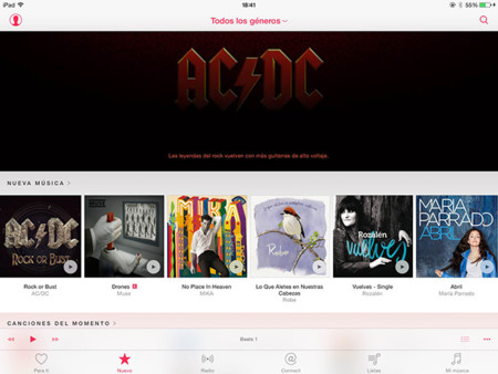 Pagina Principal Apple Music