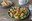 Ensalada de papaya, mango y jamón tostado. Receta