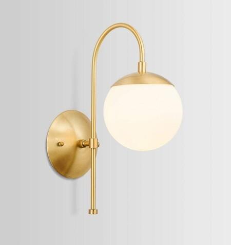 lampara dorada