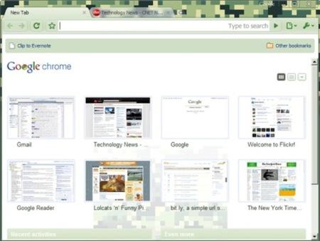 Google Chrome ofrece soporte de temas por defecto