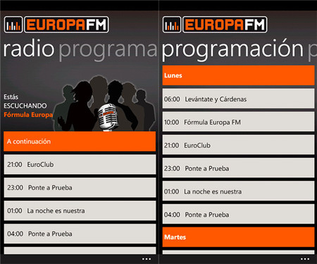 Europa FM app