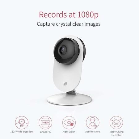 Esta cámara de vigilancia Xiaomi Yi tiene visión nocturna, WiFi y un precio muy asequible hoy en AliExpress: 14,95 euros