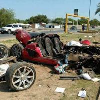 Koenigsegg CCX Custom Vision totalmente destruido en México