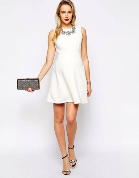 Vestido Blanco Brillos