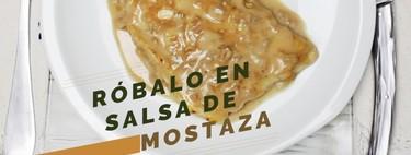 Róbalo en salsa de mostaza. Receta de pescado en video
