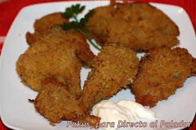 Receta de setas empanadas con alioli