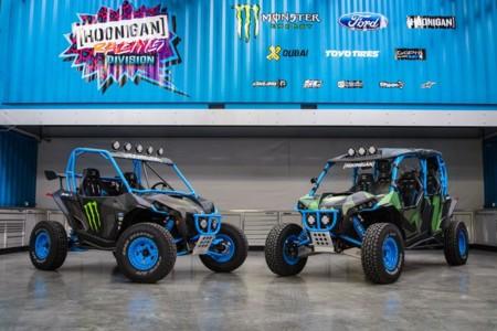 Los dos nuevos juguetes de Ken Block son estos dos Can-Am Maverick Turbo