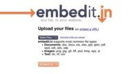 Embedit.in, comparte cualquier tipo de documento en tu sitio web