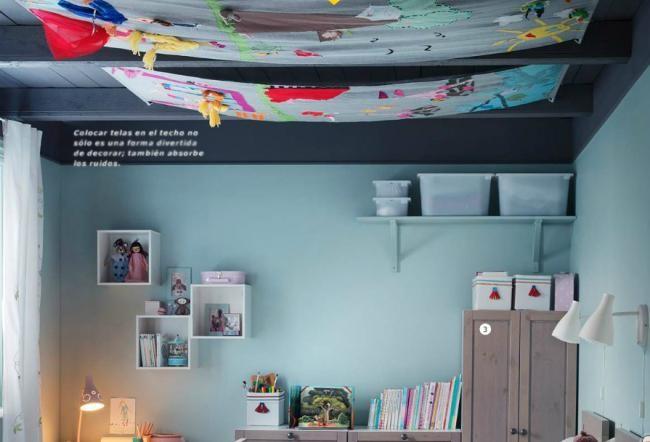 Una buena idea decorar con telas el techo de la - Decorar el techo ...