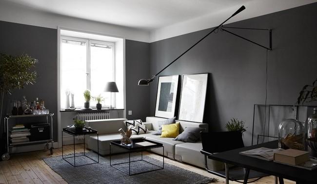 Decorando con garbo: Trece ambientes con paredes negras, una de tantas tendencias de 2018