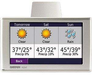 Garmin nuvi 680, recibiendo información de MSN Direct