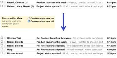 Ahora ya puedes evitar que los correos en GMail se agrupen en forma de conversaciones