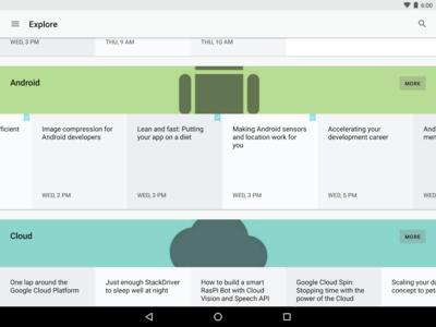 Google I/O 2016 ya tiene lista su aplicación oficial para Android