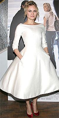 El voluminoso vestido de Diane Kruger en París: el colmo de lo ultra femenino