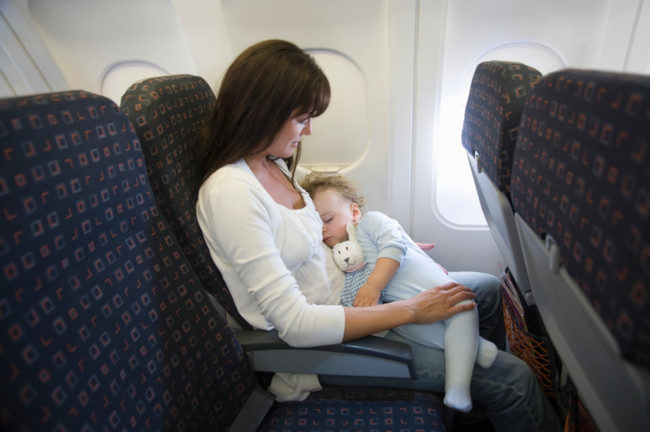 Bebés que lloran en el avión