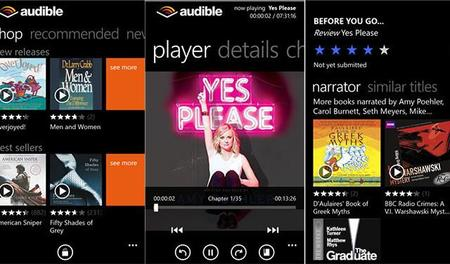La nueva aplicación de Audible para Windows Phone ya está disponible en fase Beta