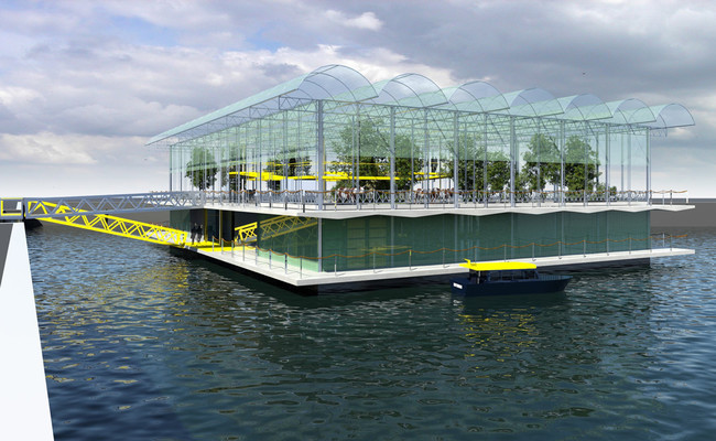 A falta de espacio en tierra firme, Rotterdam está construyendo una granja de vacas en el mar