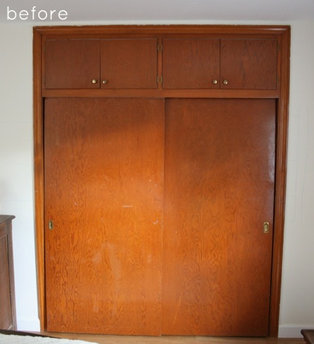 Antes y despu s de feo armario empotrado a mueble de - Como vestir un armario ...
